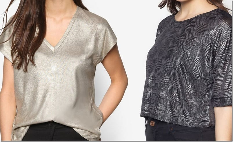 How To Style Your Metallic Top Casual?