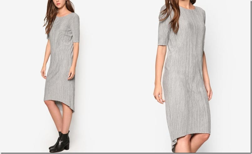 light-grey-melange-midi-dress