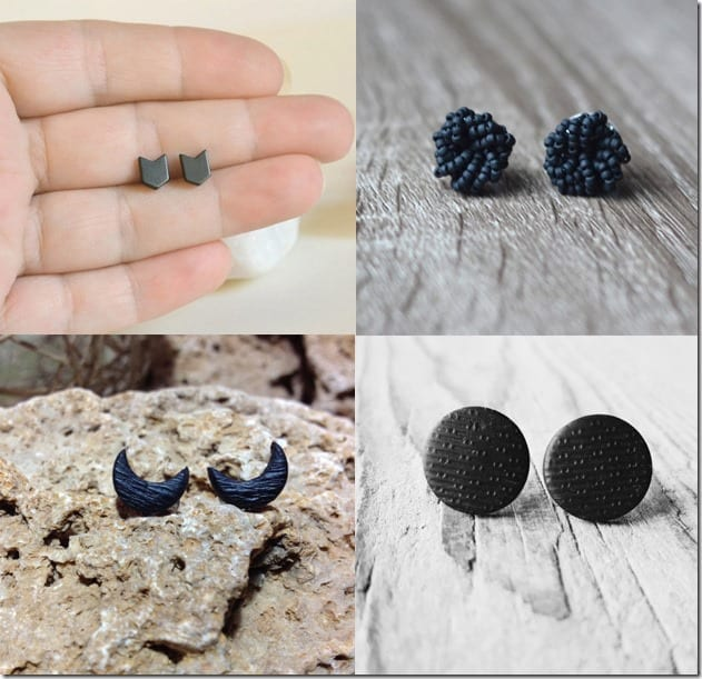 7 Matte Black Stud Earrings To Go With Your Monochrome Outfits