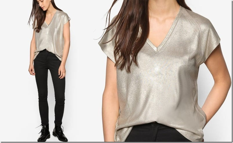 metallic-gold-vneck-top