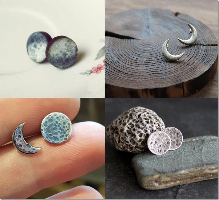 Moon Stud Earring Styles Jewelry Inspiration