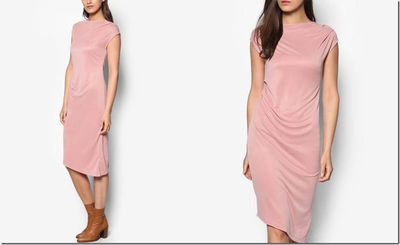pink-asymmetric-midi-drape-dress