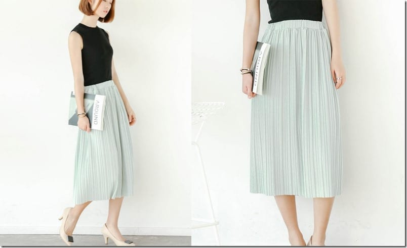 pleated-baby-green-midi-skirt