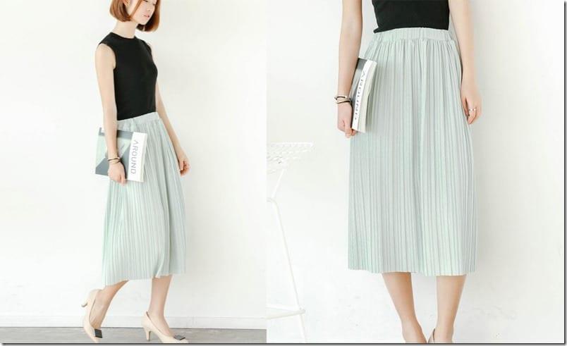 pleated-baby-green-midi-skirt