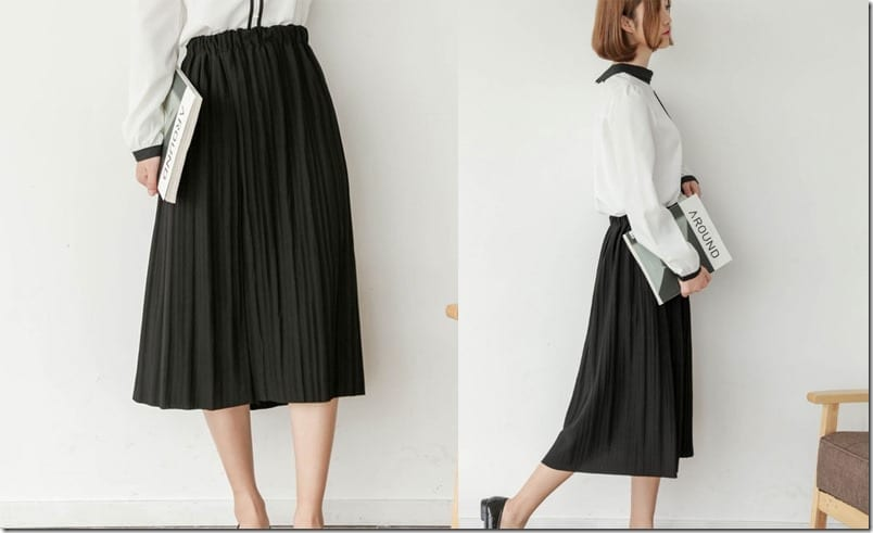 pleated-black-midi-skirt