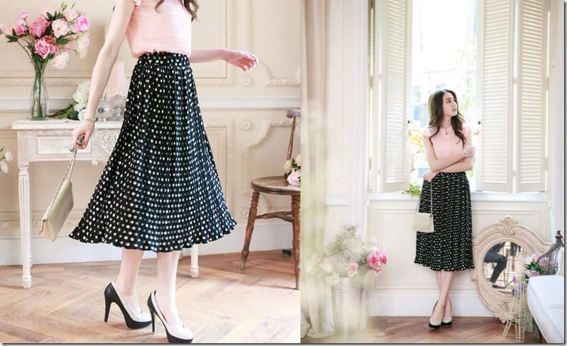 polka-dotted-midi-skirt