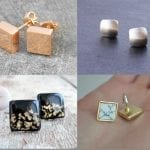 Fashionista NOW: Square Stud Earrings For Geometric Jewelry Lovers