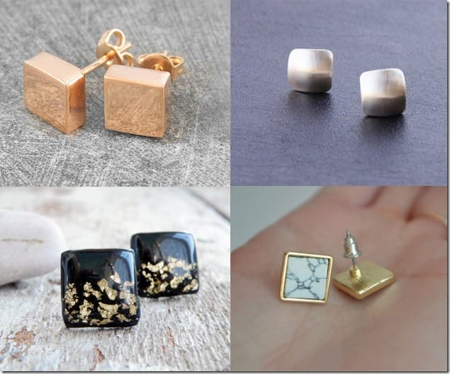 Square Stud Earrings For Geometric Jewelry Lovers