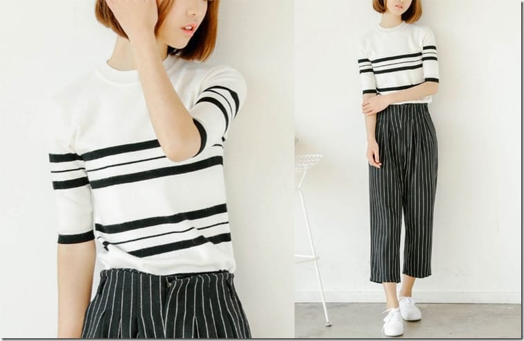 stripe-knit-blouse