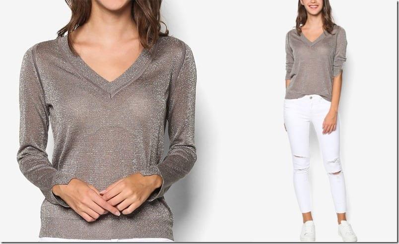 vneck-metallic-sweater