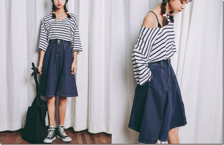 vneck-stripe-slouchy-blouse