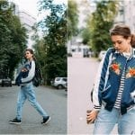 Fashionista NOW: How To Wear Embroidered Bomber Jacket?