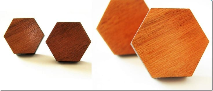 hexagon-cherry-wood-stud-earrings