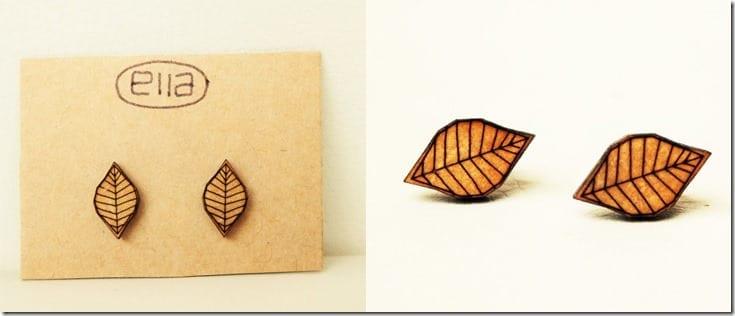leaf-cutout-wood-stud-earrings