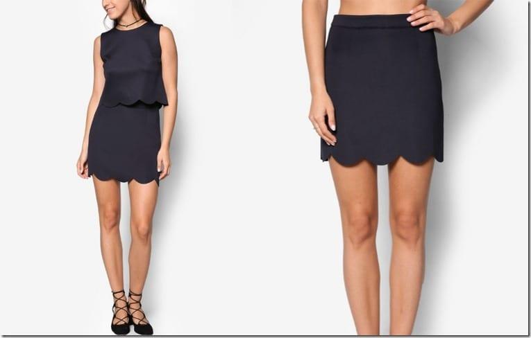 navy-scallop-hem-skirt