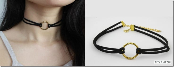 oxidized-gold-circle-suede-choker