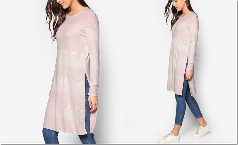 pale-pink-long-sleeve-tunic-slit-top