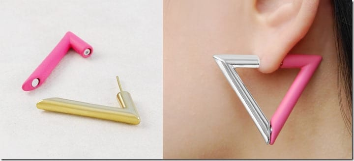 pink-silver-triangle-hoop-earrings