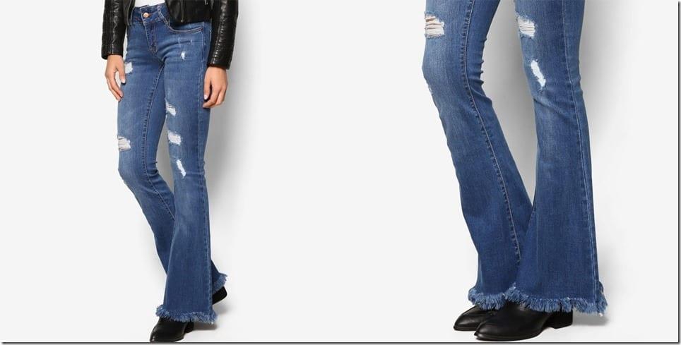 raw-hem-distressed-flare-jeans