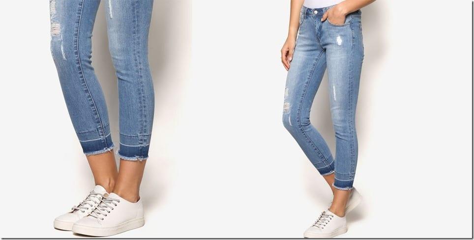 raw-hem-high-waist-skinny-jeans