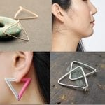 Fashionista NOW: Triangular Obsession ~ Triangle Hoop Earrings Jewelry Inspiration