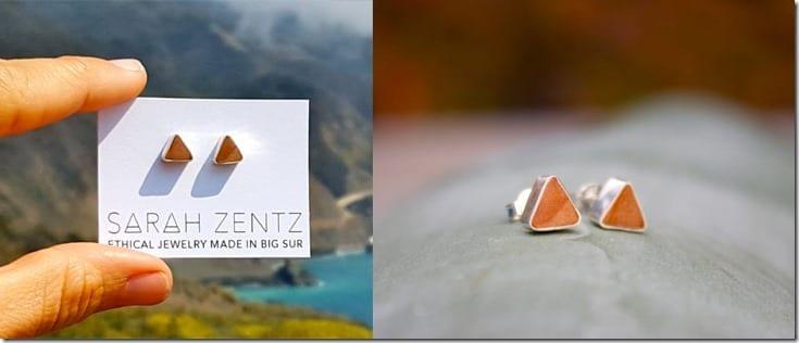 triangle-redwood-stud-earrings