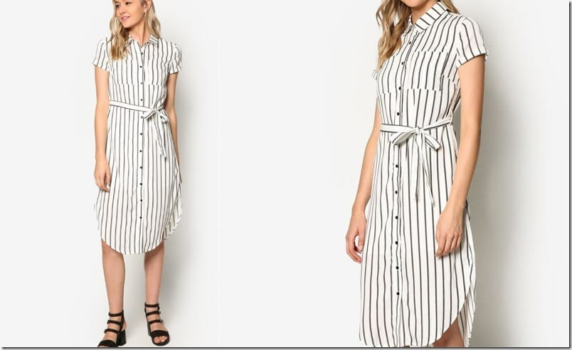 white-stripe-midi-shirt-dress