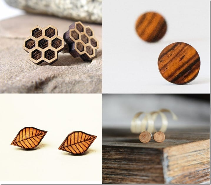 Wood Stud Earrings Jewelry Inspiration