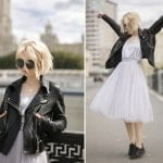 Fashionista NOW: How To Wear Black Leather Jacket With Feminine Outfits?