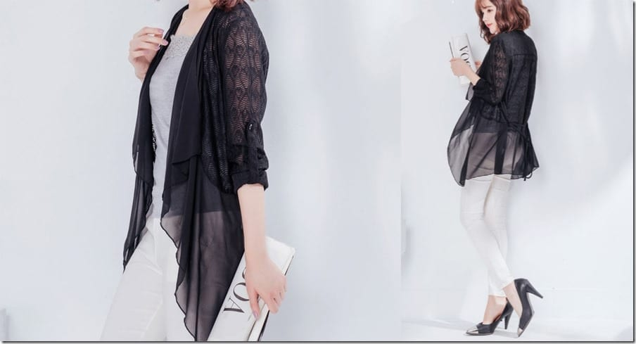 black-chiffon-lace-cardigan