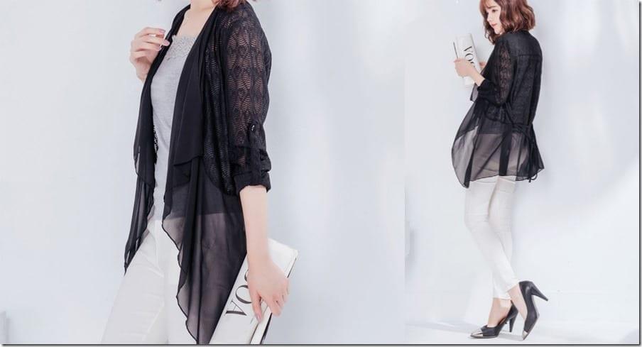 black-chiffon-lace-cardigan