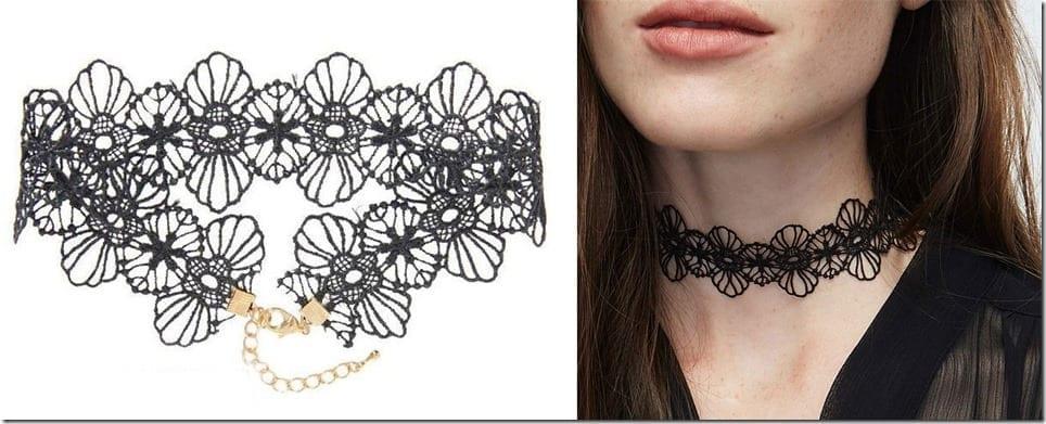 black-floral-lace-choker