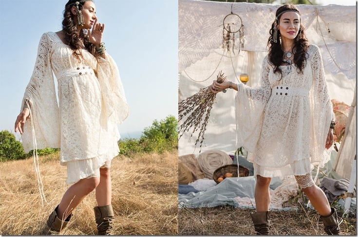 boho-flare-sleeved-lace-dress