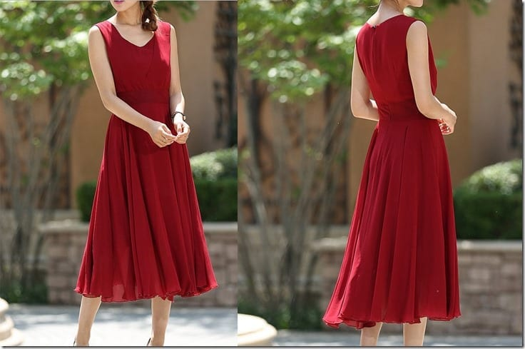 classic-red-chiffon-cocktail-dress