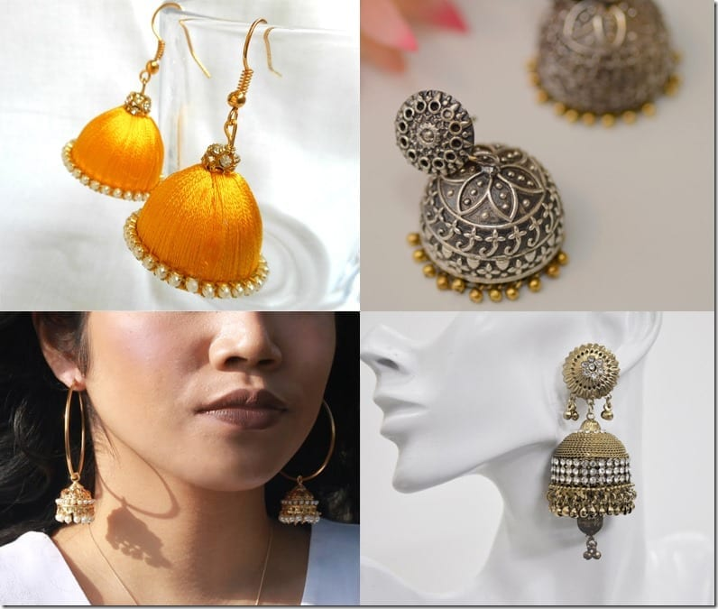 Indian Jhumka Earring Styles To Wear During Diwali 2016