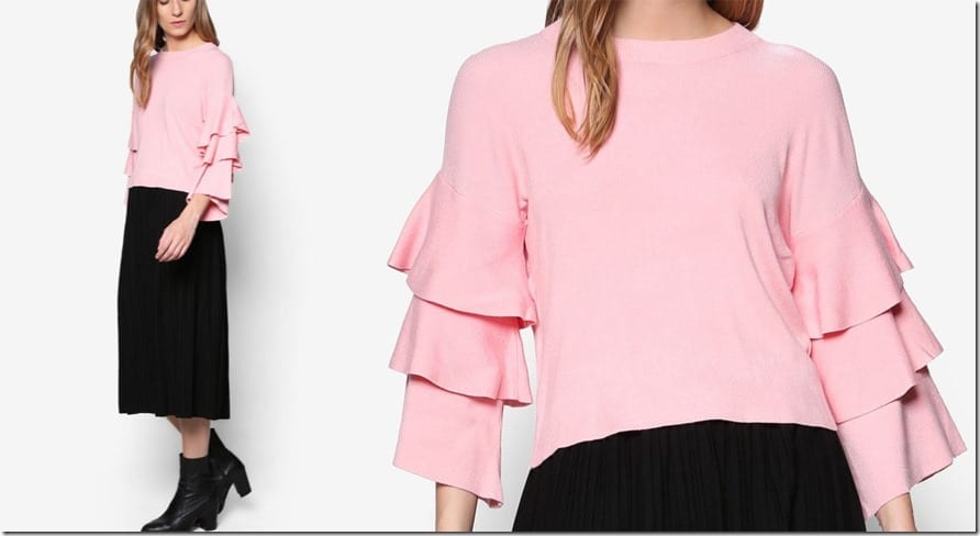layered-ruffle-sleeve-jumper