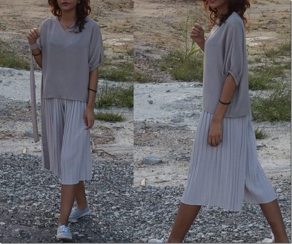 Grey Culotte Ideas For Your Minimalist Wardrobe