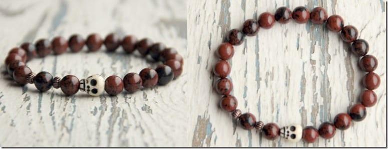 obsidian-beaded-skull-bracelet