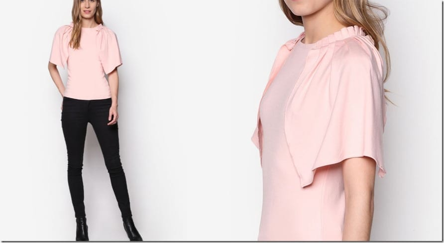 ruched-fluted-sleeve-top