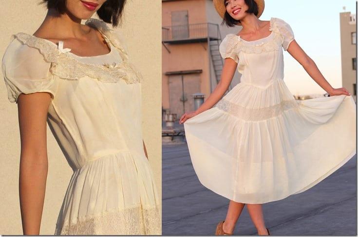vintage-boho-lace-babydoll-midi-dress