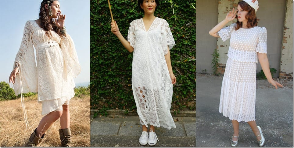 Dreamy Bohemian White Lace Dress Style Ideas