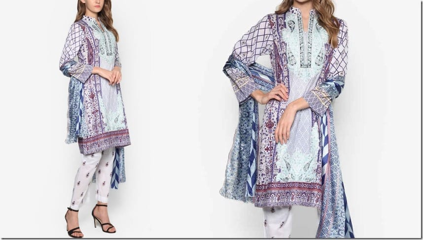 white-purple-paisley-kurti-set
