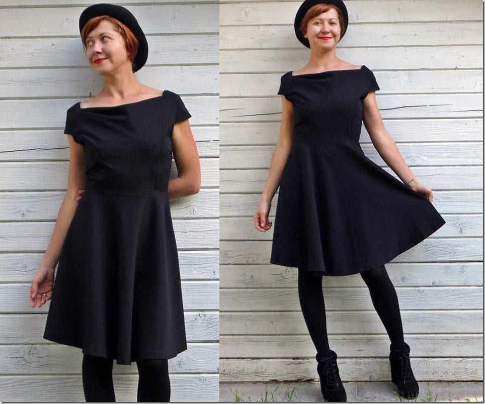 50s-style-high-waist-black-dress