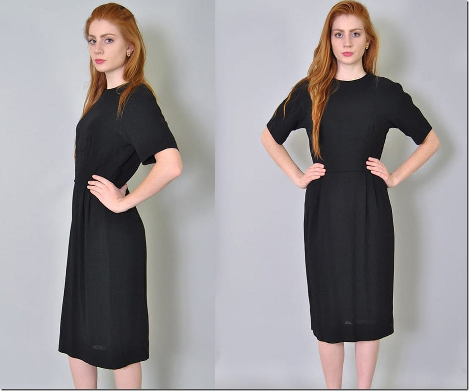 60s-vintage-black-sheath-dress