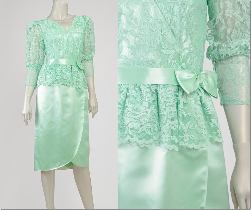 80s-vintage-puff-sleeve-mint-lace-dress