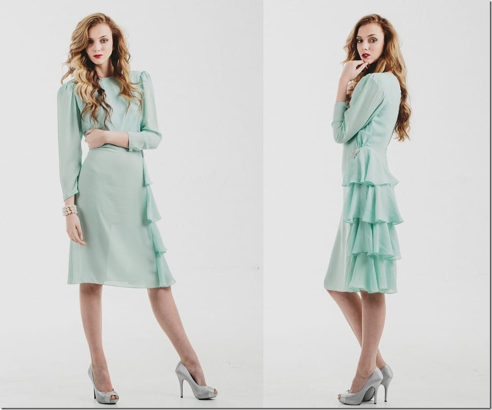 80s-vintage-side-ruffle-mint-dress