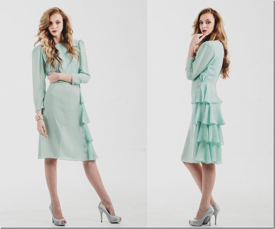 80s-vintage-side-ruffle-mint-dress