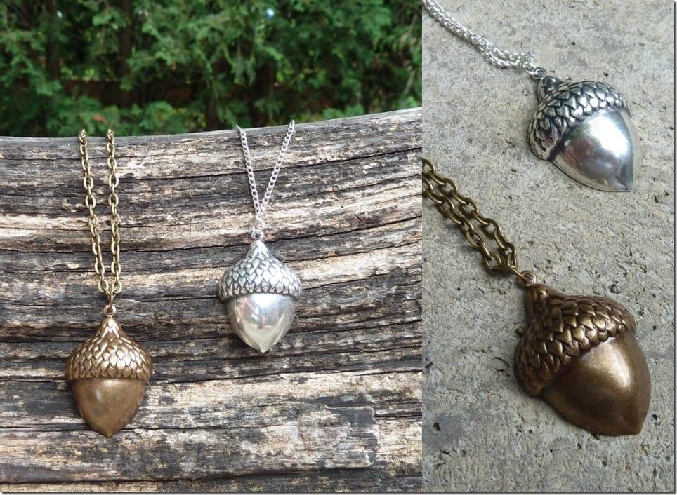 antique-acorn-charm-necklace