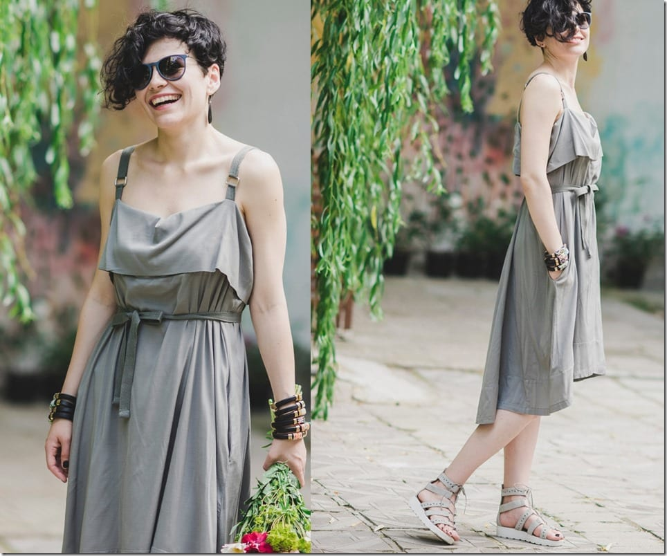 asymmetrical-grey-waist-bow-dress