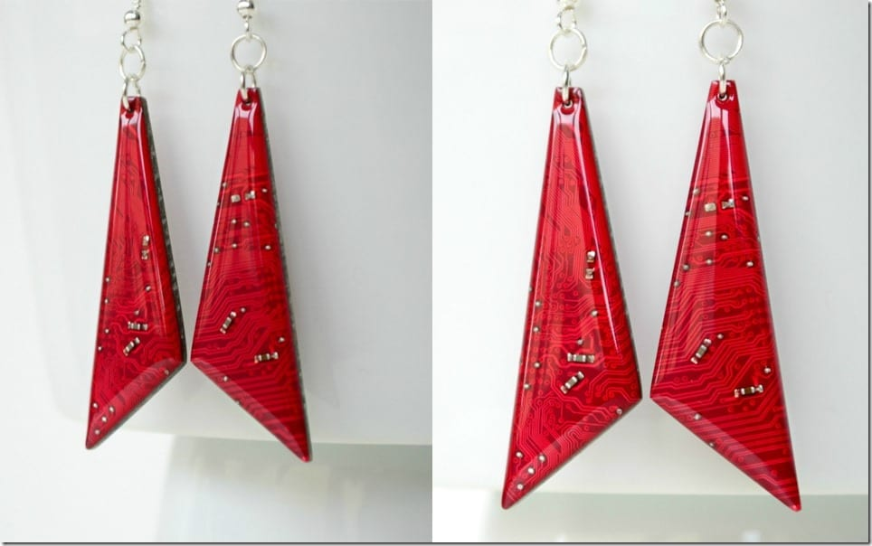 burgundy-red-long-triangle-earrings